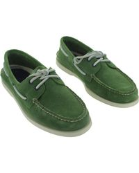 Sperry Top-Sider - A/o 2 Eye Men's Boat Shoes In Green for Men - Lyst