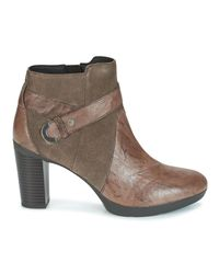 Geox - Brown D Inspiration Plateau Low Ankle Boots - Lyst