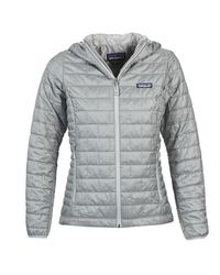 Patagonia - Gray W's Nano Puff Hoody Women's Jacket In Grey - Lyst