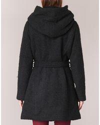 Vila - Vicama Women's Coat In Black - Lyst