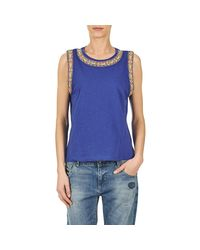 Pepe Jeans - Victory Women's Vest Top In Blue - Lyst