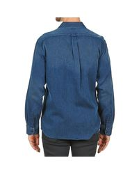Façonnable - Permala Men's Long Sleeved Shirt In Blue for Men - Lyst