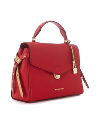 MICHAEL Michael Kors - Borsa A Mano Bristol In Pelle Rossa Men's Shoulder Bag In Red - Lyst