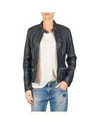 Oakwood - 61823 Women's Leather Jacket In Blue - Lyst