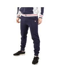 Fila Vintage - Men's Sarento Rib Detail Track Joggers , Blue Men's Sportswear In Blue for Men - Lyst
