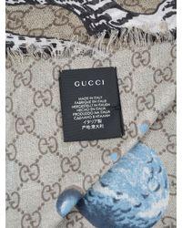 Gucci - Blue Gg Space Scarf 130x130 - Lyst