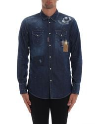 DSquared² Blue Denim Shirt for men
