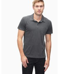 Splendid - Gray Pigment Polo Shirt for Men - Lyst