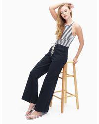 Splendid - Blue Cotton Twill Lace Up Pant - Lyst