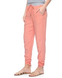 Splendid - Pink Rouched Leg Trouser - Lyst