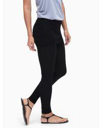 Splendid | Black Modal Fold Waist Legging | Lyst