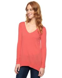 Splendid | Red Cashmere Blend Pullover | Lyst