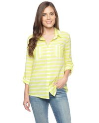 Splendid - Yellow Capri Rugby Shirt - Lyst