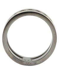 Fendi - Metallic Gunmetal Bag Bug Ring for Men - Lyst