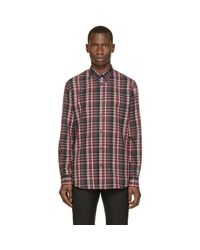 DSquared²   Red & Grey Flannel Check Shirt for Men   Lyst