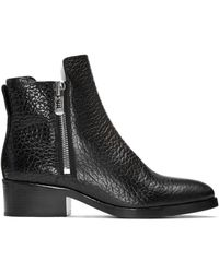 3.1 Phillip Lim | Black Croc-embossed Shearling Alexa Boots | Lyst