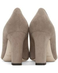 Jimmy Choo - Brown Taupe Suede Billie Heels - Lyst