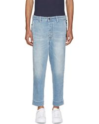 DIESEL - Blue Carrot Chino Jeans for Men - Lyst
