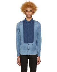 DIESEL - Blue Indigo Denim Mory Shirt for Men - Lyst