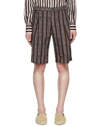 Dolce & Gabbana - Black Pinstriped Shorts for Men - Lyst