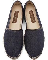 Dolce & Gabbana - Gray Indigo Denim Espadrilles for Men - Lyst