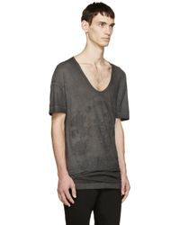 Diesel Black Gold - Black Distressed Graphic T-shirt for Men - Lyst