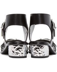 McQ - Black Metallic Heeled Sandals - Lyst