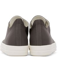 DRKSHDW by Rick Owens - Gray Grey Canvas Sneakers for Men - Lyst