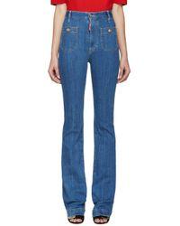 DSquared² | Blue Flared Iza California Jeans | Lyst