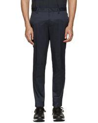 DSquared² - Black Navy Raw Hem Trousers for Men - Lyst