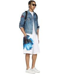 DSquared² - White Flower Print Shorts for Men - Lyst
