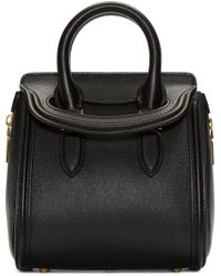 Alexander McQueen | Black Leather Mini Heroine Bag | Lyst