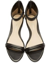 3.1 Phillip Lim - Black Leather Martini Sandals - Lyst