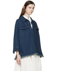 Chloé - Blue Indigo Denim Blouse - Lyst