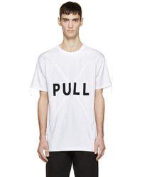 KENZO - White Pull Here T-shirt for Men - Lyst