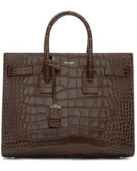 Saint Laurent - Brown Sac De Jour Tote - Lyst