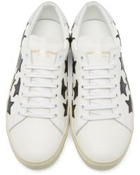 Saint Laurent - White Star Court Classic Sneakers - Lyst