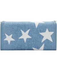 Stella McCartney - Blue Denim Falabella Stars Wallet - Lyst