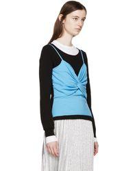 J.W.Anderson - Black & Blue Twist Bodice Sweater - Lyst