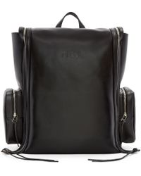 Hood By Air - Pink Black Leather Deb Zip Backpack - Lyst