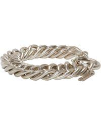 Isabel Marant - Metallic Silver Chain Matazz Bracelet - Lyst