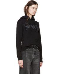 Vetements - Black Logo Stretch-Cotton Hoodie - Lyst