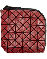 Bao Bao Issey Miyake | Red Geometric Matryoshka Zip Wallet for Men | Lyst