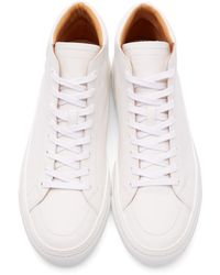 Number288 - White Leather Jersey High-top Sneakers for Men - Lyst