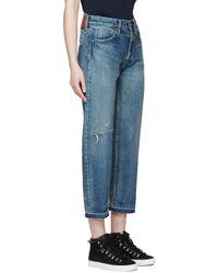 Chimala - Blue Indigo Used Ankle Cut Jeans - Lyst