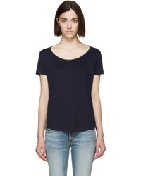 Rag & Bone - Blue Distressed Paint Tank Top - Lyst