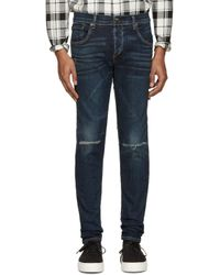 Rag & Bone | Blue Indigo Standard Issue Fit 1 Jeans for Men | Lyst