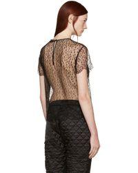 Alexander Wang | Black Lace Patch Top | Lyst