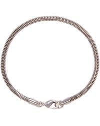 A.P.C. - Metallic Silver Snake Chain Bracelet - Lyst