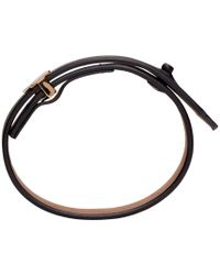 Lanvin - Black Leather Bracelet for Men - Lyst